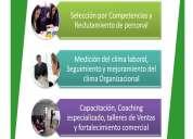 Seleccion de personal, visitas domiciliarias, capacitaciones