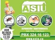Asistencia técnica domiciliaria - control plagas, linea blanca, energía y plomería