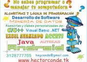Tutorial de office, excel, algoritmos, java, c++, visual basic