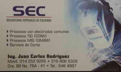 SOLDADURAS ESPECIALES DE COLOMBIA 5484997
