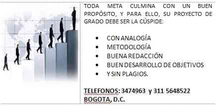 PROYECTOS DE NEGOCIO, DE GRADO, ESPECIALIZACION Y MAESTRIA 311 5648522