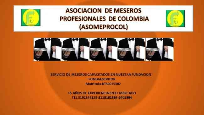 MESEROS PROFESIONALES (ASOMEPROCOL)