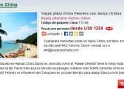 Viajes playa china febrero con sanya 10 dias