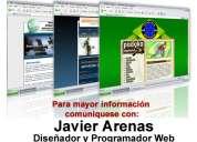 Excelente diseñador web freelance javier arenas