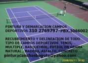 Pintura, demarcacion digramacion recubrimiento canchas deportivas escolares chia pbx 3086002
