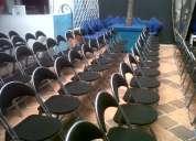Sillas plegables tipo auditorio en paÑo negro