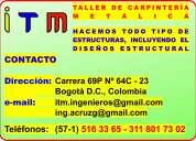 CarpinterÍa metÁlica, soldadura, ornamentaciÓn, bogotÁ d.c.