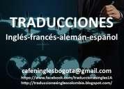 Traducciones inglés-español-alemán-francés precios cómodos!