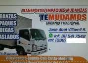 mudanzas en villavicencio 311 5417542 y a todo el pais