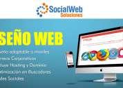 DiseÑamos su pagina web con hosting y dominio incluidos