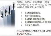 Tecnicamente: anteproyectos, tesis y monografias. 311 5648522