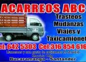Acarreos telecargar taxicamioneta en bucaramanga