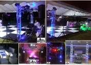 Alquiler minitecas medellin pistas de baile tarimas cabezas roboticas
