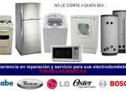 Reparación de lavadoras y neveras.