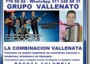 Grupo vallenato, la combinacion vallenata, eventos, fiestas, reuniones, bogota