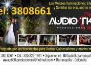Alquiler de minitecas fiestas eventos iluminacion en barranquilla