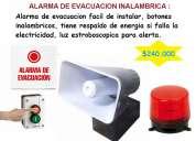 Alarmas evacuaciÓn inalambrica instalada 280.000 cel 3204476645