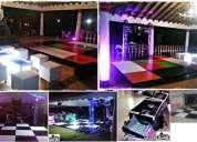 Alquiler salas lounge iluminadas, pistas de baile en medellin