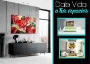 Impresion digital sobre lienzo templadas en bastidor