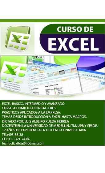 Clases de Excel Avanzado a Domicilio