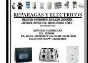 Instalacion: estufas, hornos, calentadores tel: 3836846