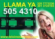 soportes para tv fijos y moviles llama ya tel 505-43-10
