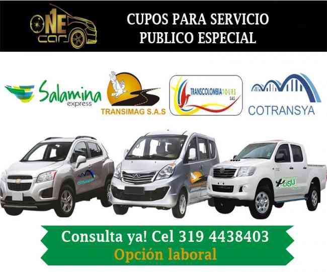 CUPOS DE SERVICIO PUBLICO ESPECIAL DE OPERACIÓN NACIONAL