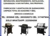 Reparacion de asadores weber- thermos - mr beef - bbq - grill