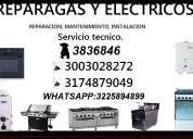 Estufas - hornos - calentadores challeguer tel: 3836846