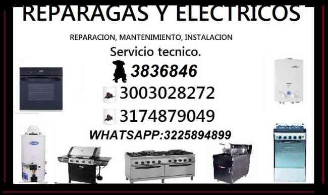 ESTUFAS A GAS - ELECTRICAS - INDUSTRIALES TEL:3836846