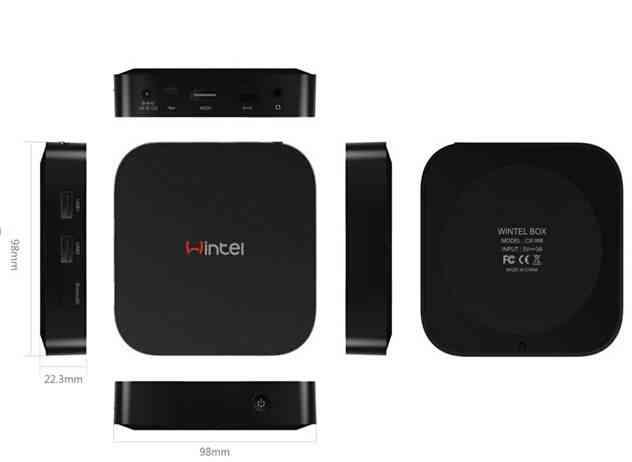 3D mini pc window10 and android4.4 OS smart IPTV BOX Internet TV Wifi incorporado 32GB flash