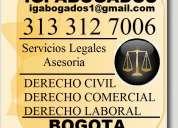 Ig. abogados bogota, consulta gratis. derecho civil, comercial, laboral, inmuebles, negocios