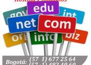 Hosting, dominios y páginas web $388.000 - servicio 100% confiable y precios increíbles