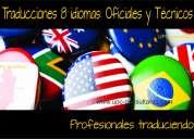 Expertos en traducción e interpretes /8 idiomas /oficiales*