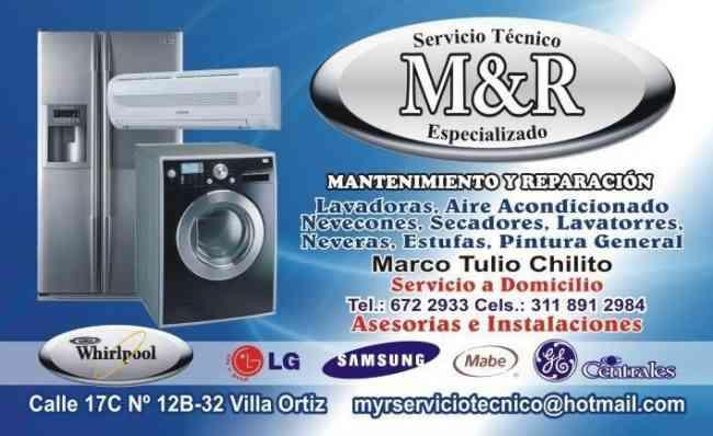 M & R SERVICIO TECNICO LAVADORAS VILLAVICENCIO 3118912984