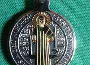 Medalla san benito en acero
