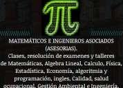 Profesor a domicilio de cálculo, matemáticas, física, Álgebra lineal