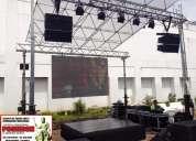 Alquiler de equipos de amplificaciÓn,vÍdeo,iluminaciÓn,techos y tarimas en bucaramanga y santande
