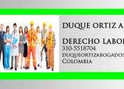 Especialistas en derecho laboral medellin asesoria juridica para empleados