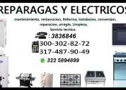 Calentadores a gas,calentadores electricos cel:3003028272