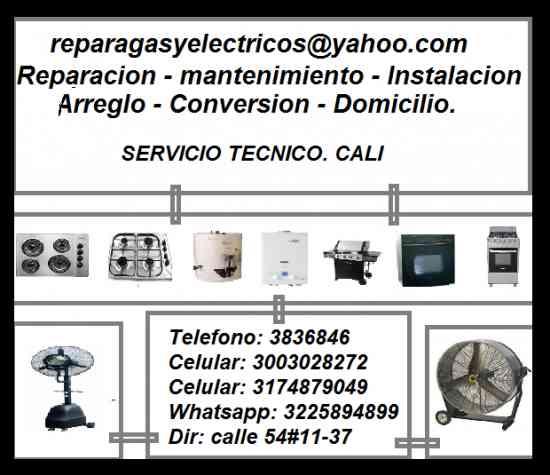 Reparagas y Electricos, Reparacion de Estufas, Hornos, Calentadores a Gas - Cali Valle del Cuaca col
