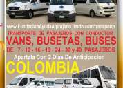 499 vans y buses, transporte con conductor, cali, palmira, buga, buenaventura, cartago, tulua