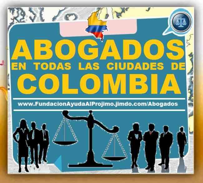 ABOGADOS En Cali, Bogota, Medellin, Cartagena, Barranquilla, Manizales, Bucaramanga, Pasto