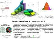 Clases de probabilidad y estadÍstica.  whatsapp 322-603-95-91 (virtual)