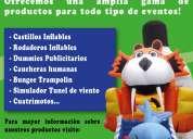 Inflables y trampolines . com inflables de todo tipo, dummies publicitarios