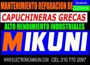 Cel: 3107702097 reparacion mantenimiento de capuchineras cafetereas molinos grecas barras de cafe