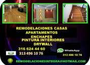 Se hacen remodelaciones pintura enchapes drywall 313 496 10 76