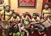 Batucada brasileña musica de brasil chirimia papayera cumbiamberos tambora hora loca en bogota