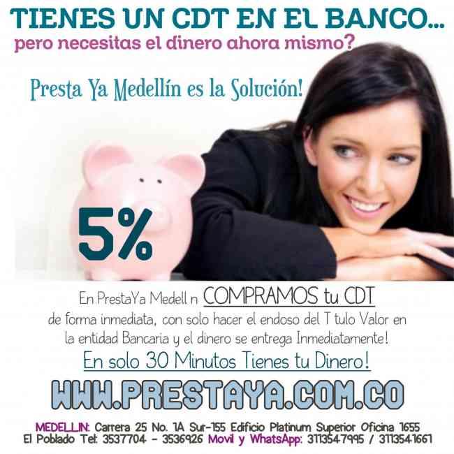 Compra de Cdts en Medellin