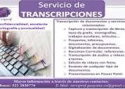 Transcripción de documentos en floridablanca y bucaramanga